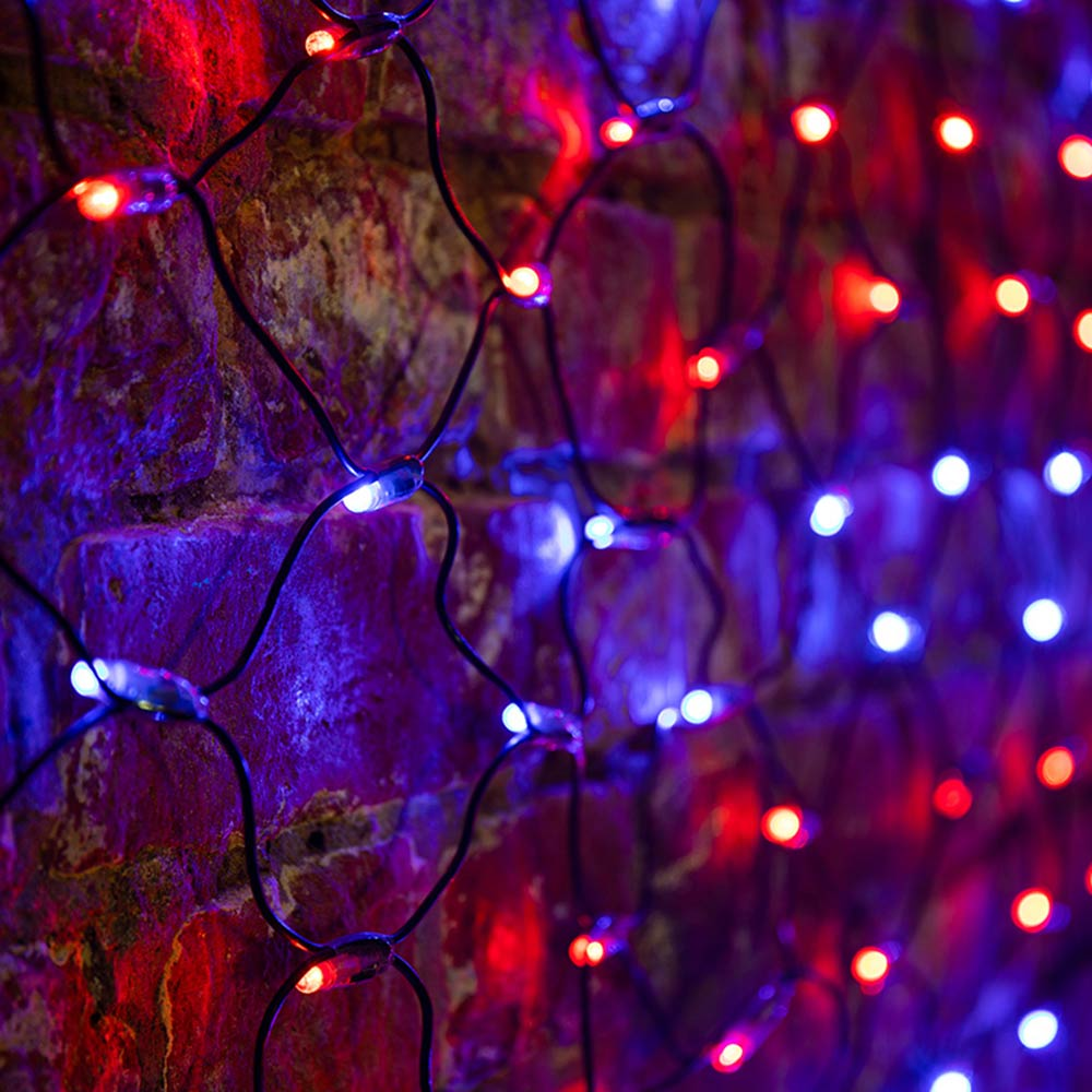 Гирлянда светодиодная Neon-Night Сеть 176 LED свечение красно-синее 2х0,7 м уличная (215-013)