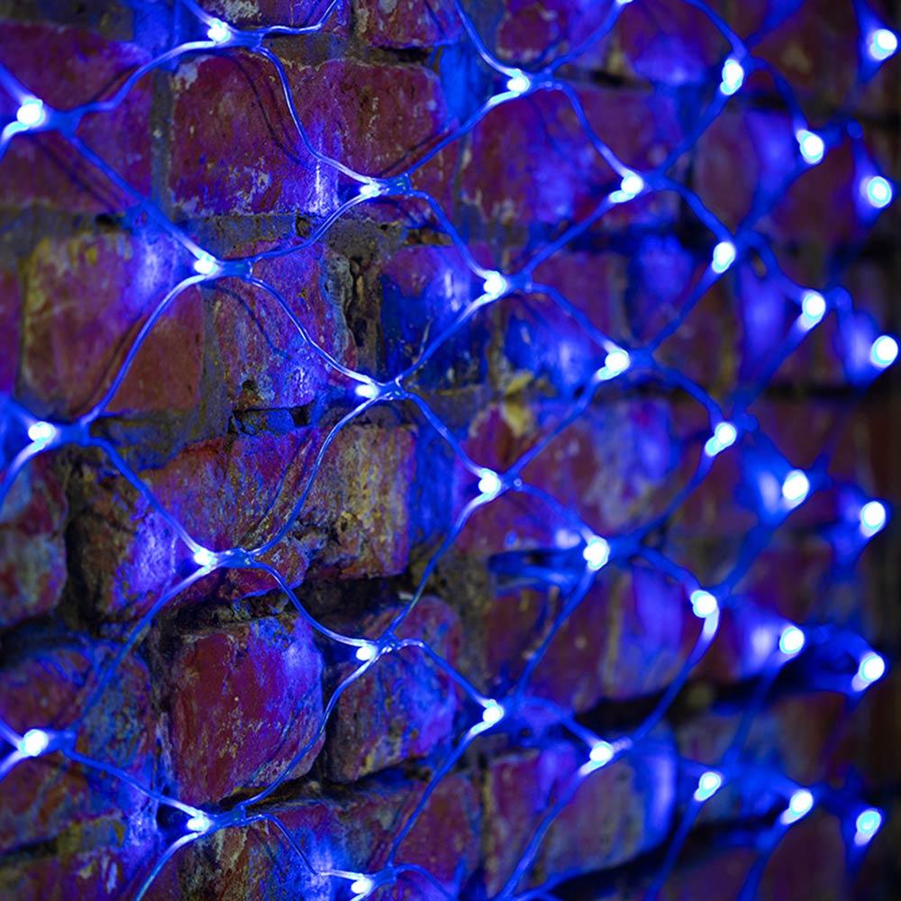 Гирлянда светодиодная Neon-Night Сеть 288 LED свечение синее 2х1,5 м уличная (215-043)