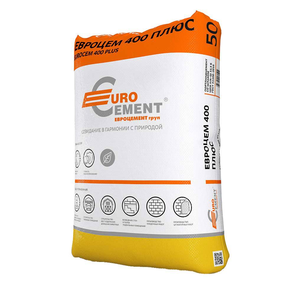 Цемент Евроцемент М400 Д20 ЦЕМ II А-Ш 32.5 50 кг стоимость