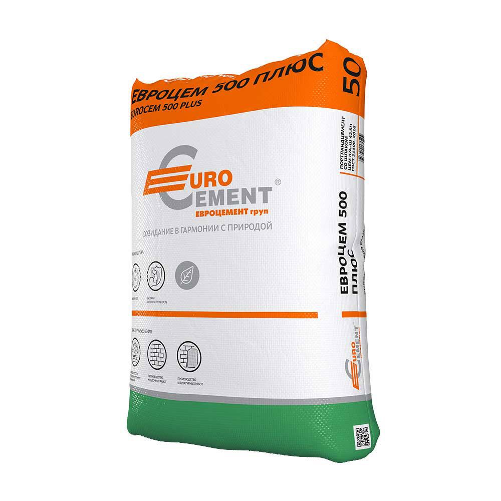 цена на Цемент Евроцемент М500 Д20 ЦЕМ II А-Ш 42,5 Н 50 кг