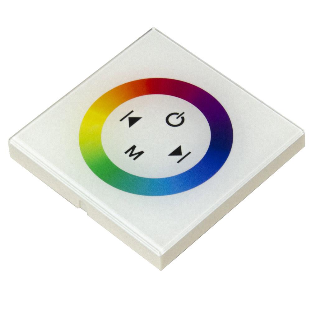 Фото - Контроллер для светодиодной ленты RGB OGM 144 Вт 12/24 В IP20 встраиваемый сенсорный контроллер rgb ogm 12в 144вт встраиваемый белый