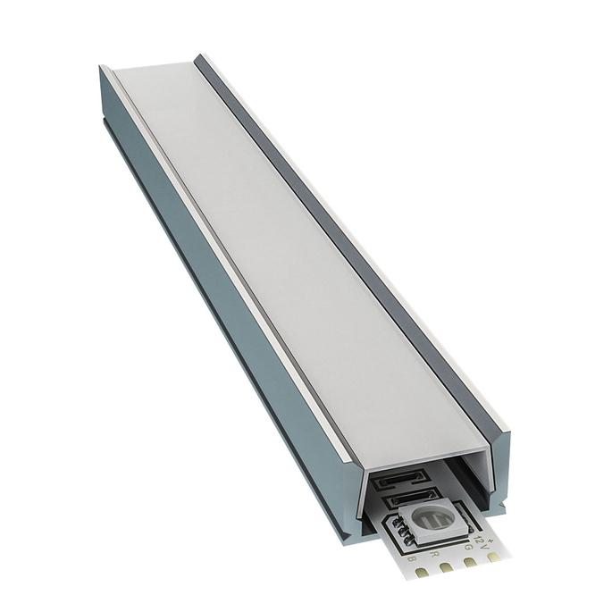 Профиль для светодиодной ленты OGM P8-01 2 м прямой накладной анодированный алюминий комплект
