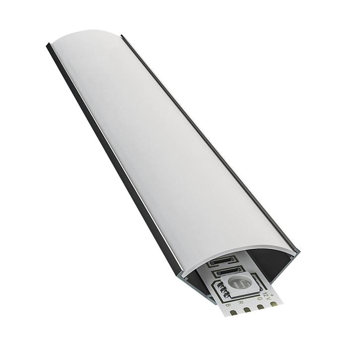 Профиль для светодиодной ленты OGM P8-04 2 м угловой накладной широкий анодированный алюминий к
