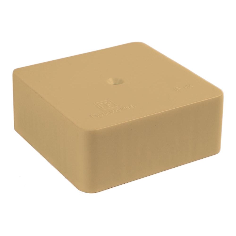 Коробка распределительная Промрукав для кабель-каналов 70х70х25 мм сосна IP42 универсальная безгалогенная фото