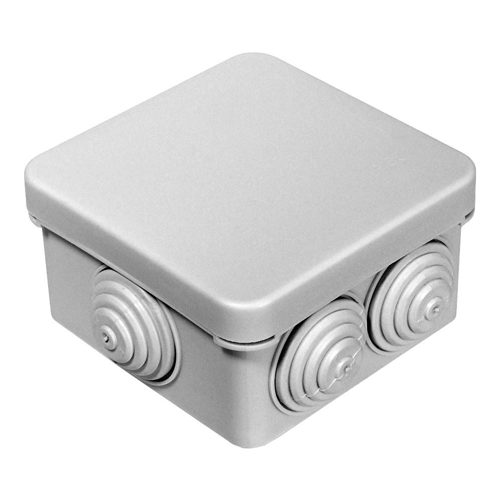 Коробка распределительная Промрукав для открытой установки 70х70х40 мм 6 вводов серая IP55 атмосферостойкая безгалогенная