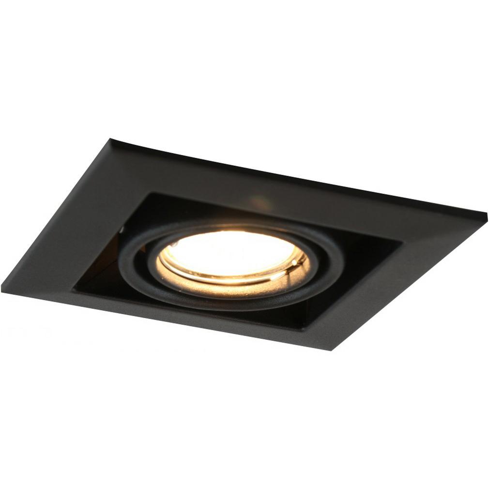 Светильник встраиваемый ARTE LAMP GU10 130x130 мм поворотный 50 Вт 220 В квадратный IP20 черный