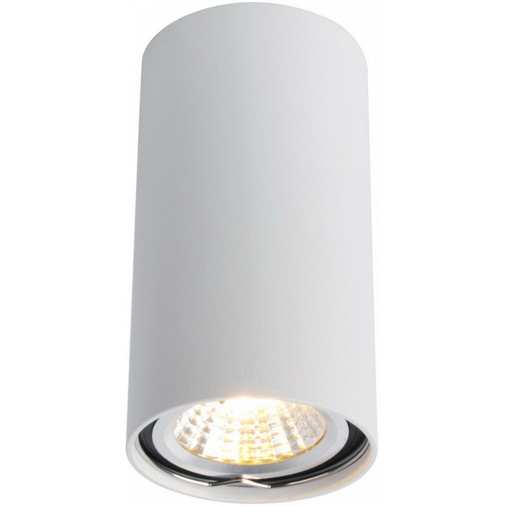 Светильник накладной ARTE LAMP (A1516PL-1WH) GU10 d56x100 мм 15 Вт 220 В IP20 цилиндрический белый светильник накладной arte lamp a3102al 1wh gu10 90x80x70 мм 35 вт 220 в ip44 белый