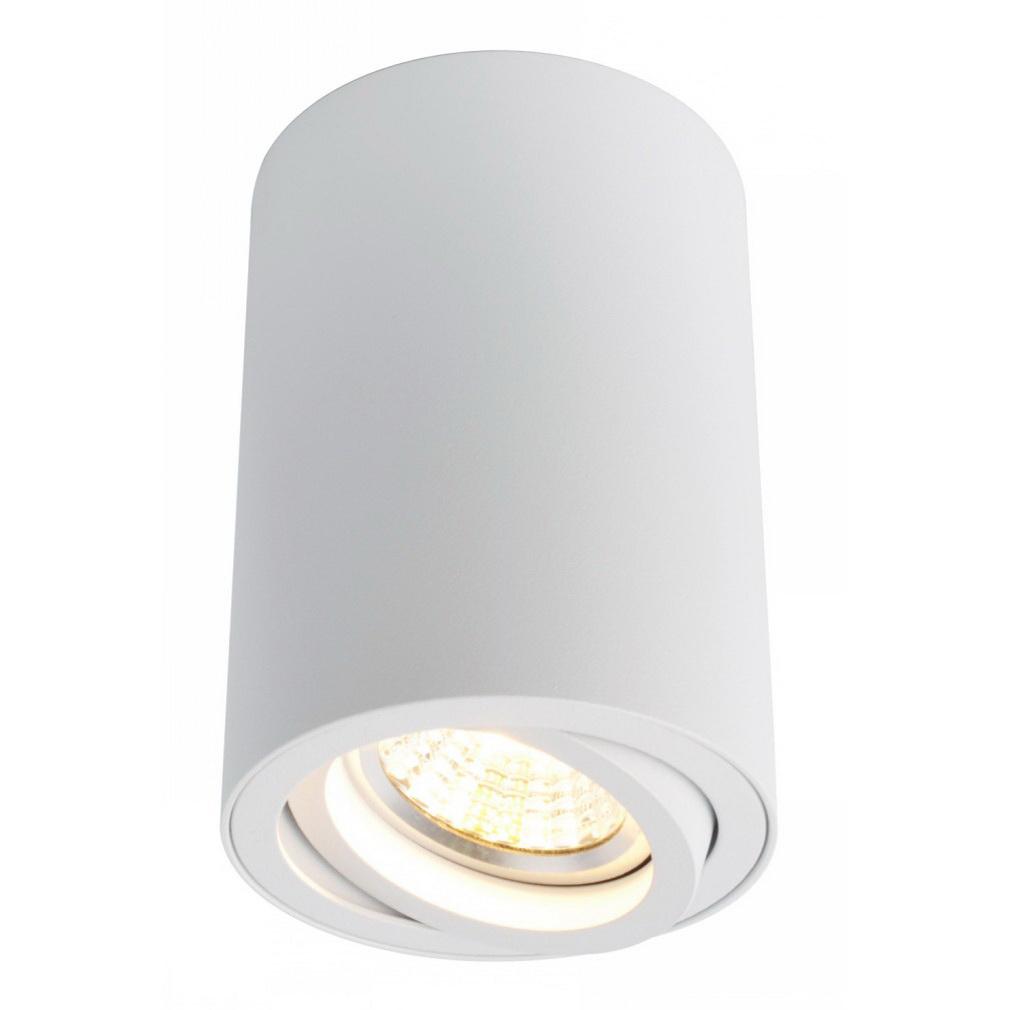 Светильник накладной ARTE LAMP (A1560PL-1WH) поворотный GU10 d70x100 мм 50 Вт 220 В IP20 цилиндрический белый светильник накладной arte lamp a3102al 1wh gu10 90x80x70 мм 35 вт 220 в ip44 белый