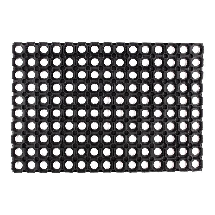 Коврик придверный резиновый черный 60х40 см
