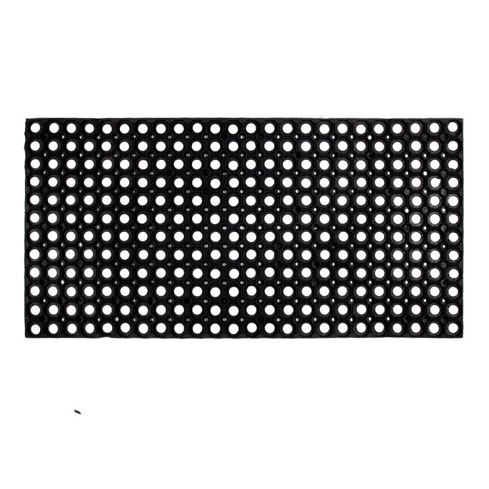 Коврик придверный резиновый черный 100х50 см