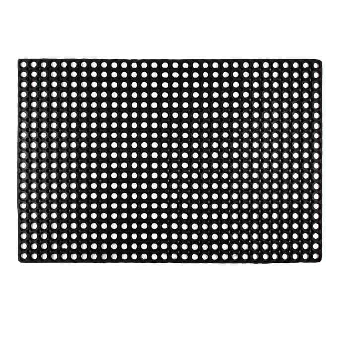 Коврик придверный резиновый черный 120х80 см