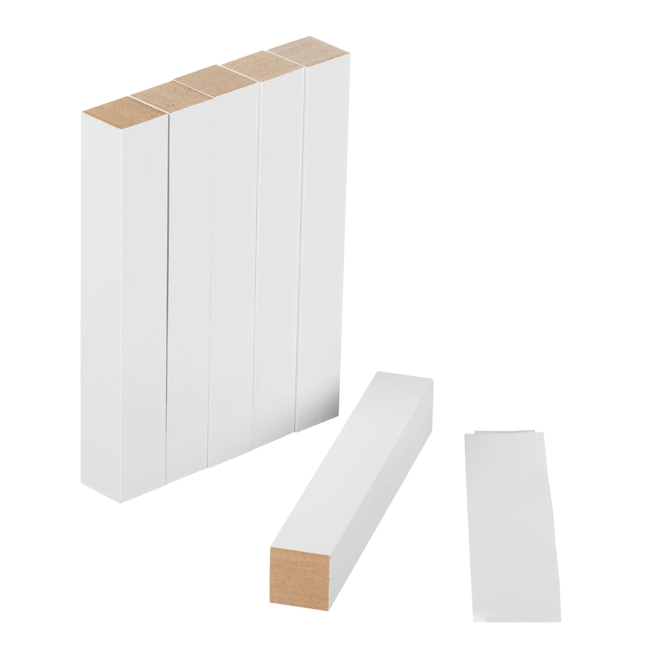 Соединитель для плинтуса МДФ 18х18х122 мм белый под покраску (6 шт.) профиль рамочный мдф 55х16х2070 мм цвет белый
