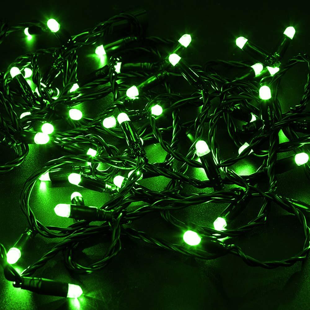Гирлянда светодиодная Neon-Night Нить 100 LED свечение зелёное 10 м (305-144)