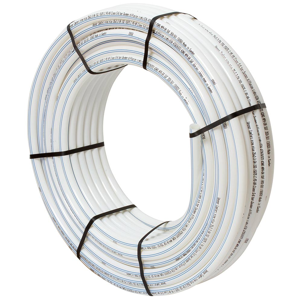 Труба из сшитого полиэтилена PE-Xa Uponor Comfort Pipe Plus (1009230) 20 х 2,0 мм PN6 белая (240 м)