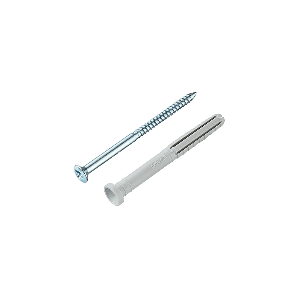 Дюбель-гвоздь Tecfi YZ 6x60 мм цилиндрическая манжета нейлон (100 шт.)
