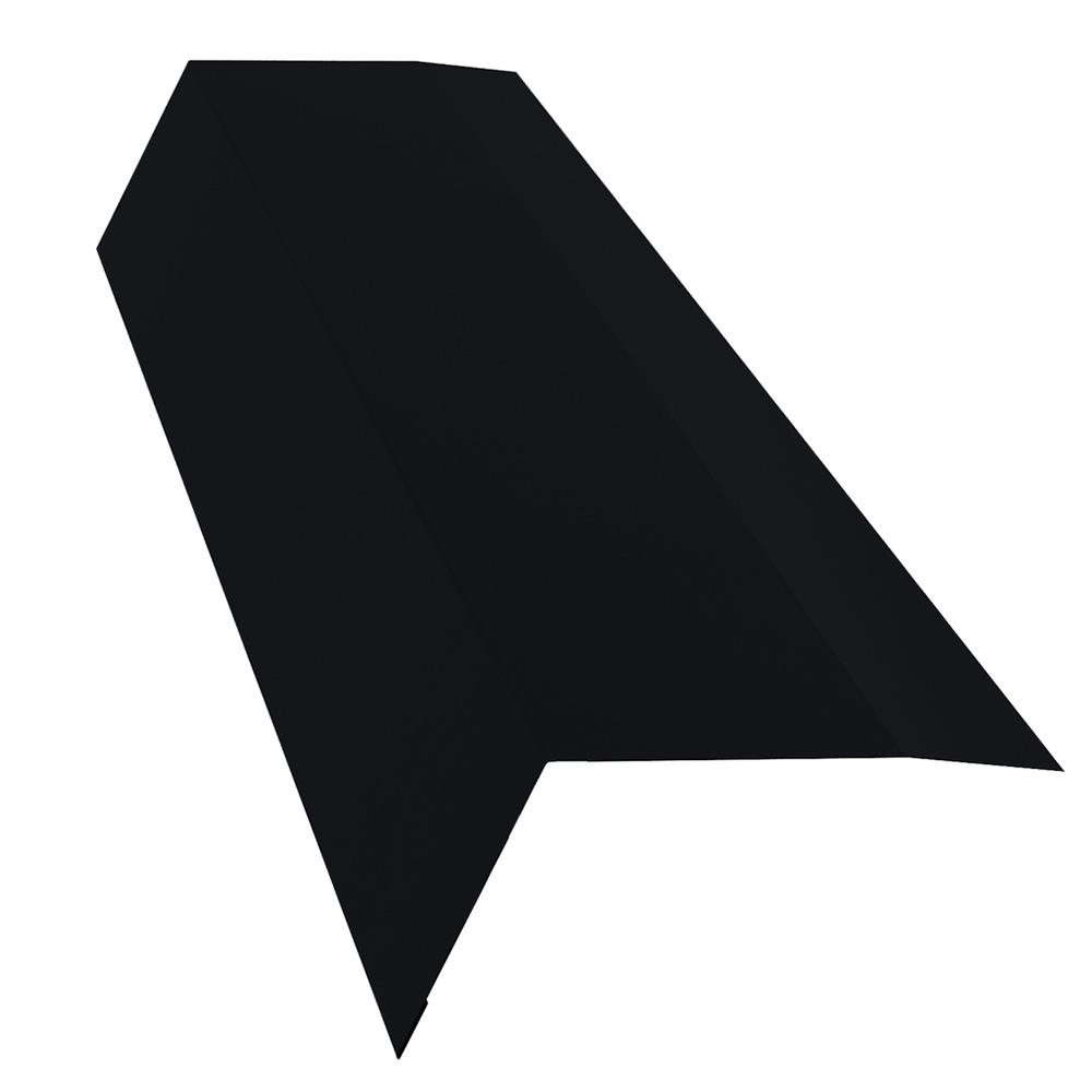 Планка карнизная для металлочерепицы 100х65 мм 2 м Стальной Бархат/Rooftop Matte черный янтарь RAL 9005 недорого