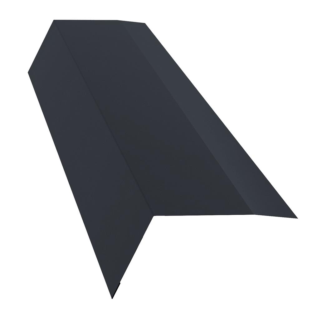 Планка карнизная для металлочерепицы 100х65 мм 2 м Стальной Бархат/Rooftop Matte графитовый серый RAL 7024 недорого