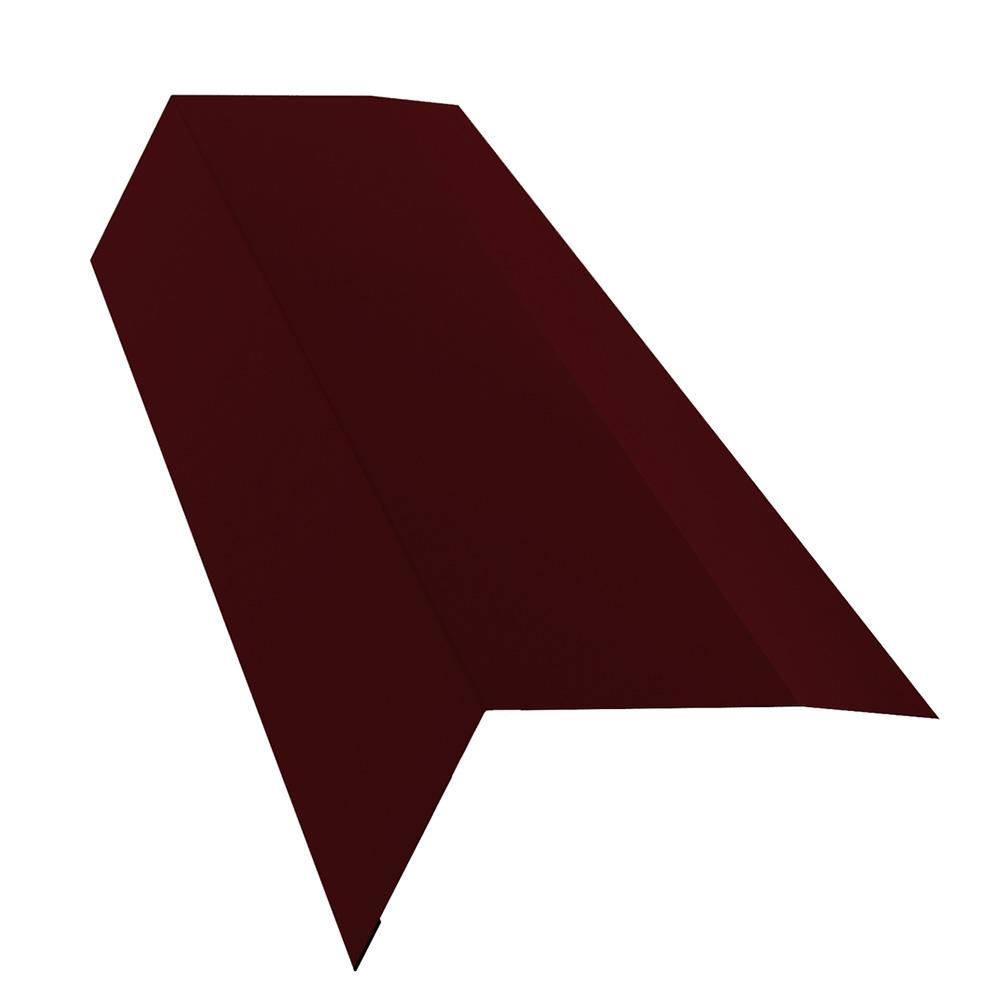 Планка карнизная для металлочерепицы 100х65 мм 2 м винно-красный RAL 3005 матовая недорого