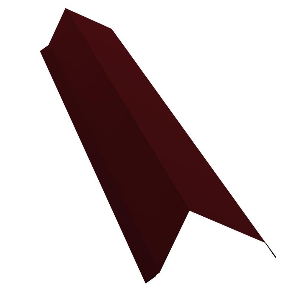 Планка торцевая для металлочерепицы 100х80 мм 2 м винно-красный RAL 3005 матовая недорого