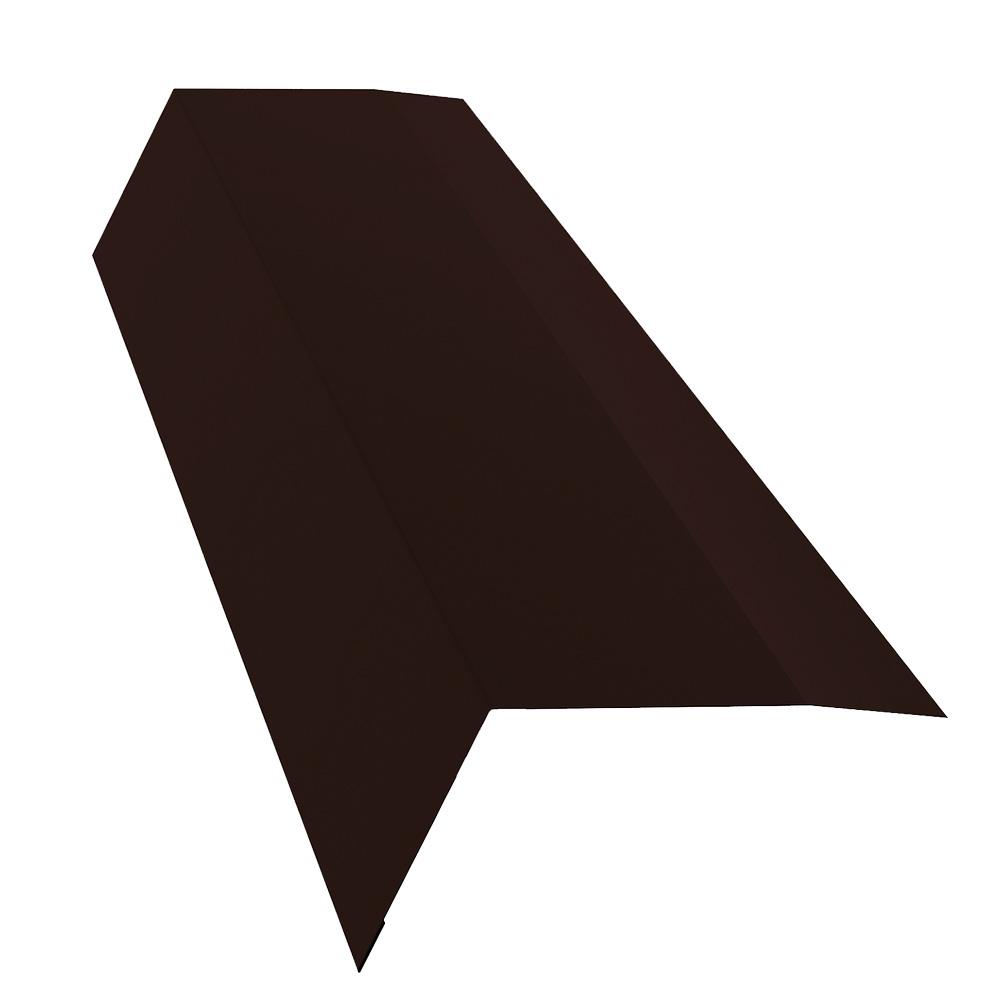 Планка карнизная для металлочерепицы 100х65 мм 2 м Стальной бархат коричневая RAL 8017 планка карнизная для металлочерепицы 50х100 мм 2 м коричневая ral 8017
