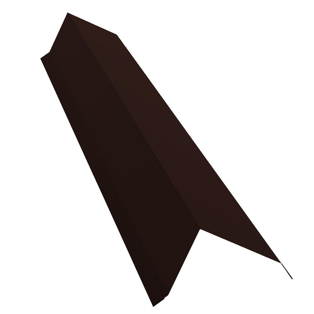 Планка торцевая для металлочерепицы 100х80 мм 2 м Стальной бархат коричневая RAL 8017 планка карнизная для металлочерепицы 50х100 мм 2 м коричневая ral 8017