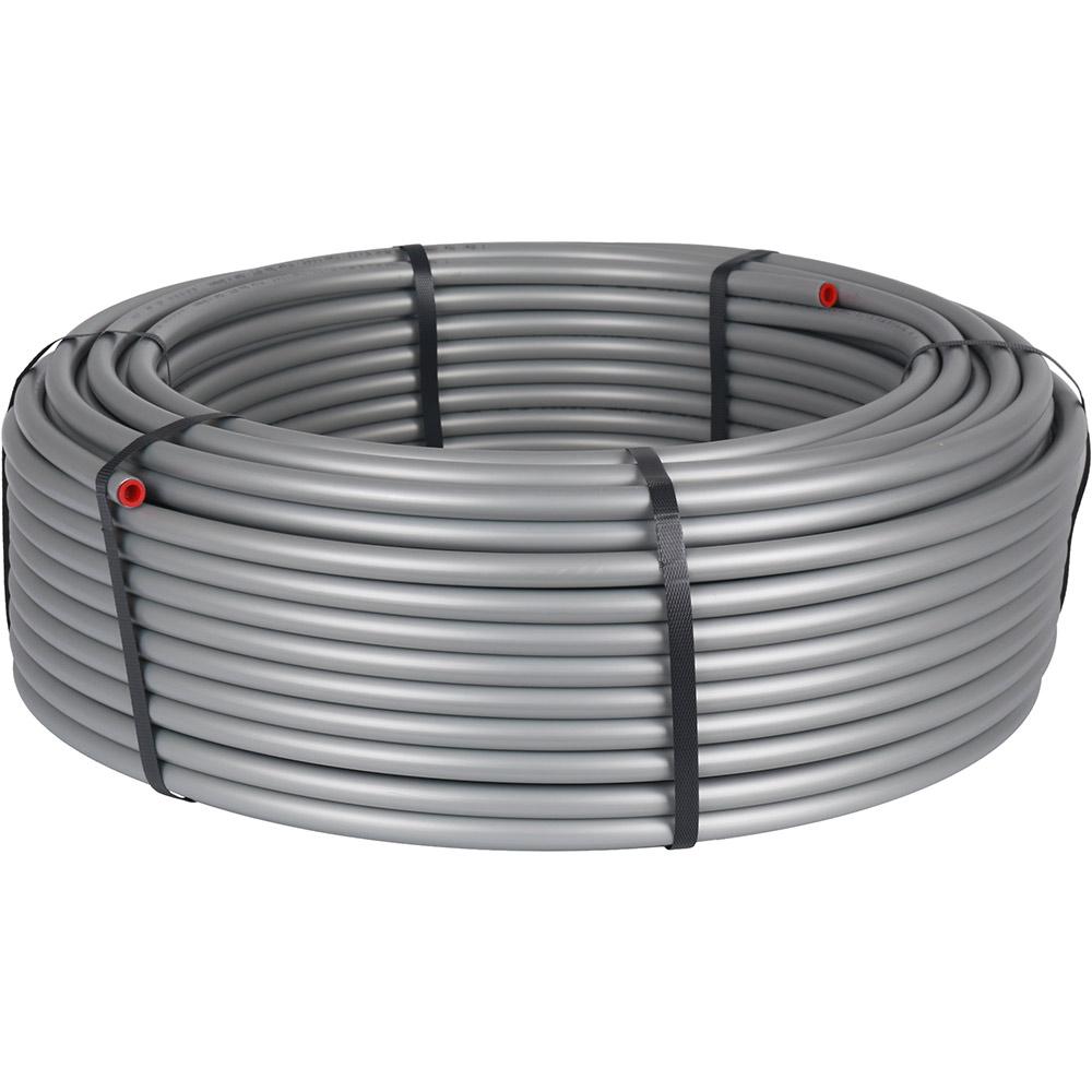 цена на Труба полиэтиленовая стабильная PE-Xc/Al/PE-Xc 20x2,9 мм серая бухта 100 м STOUT