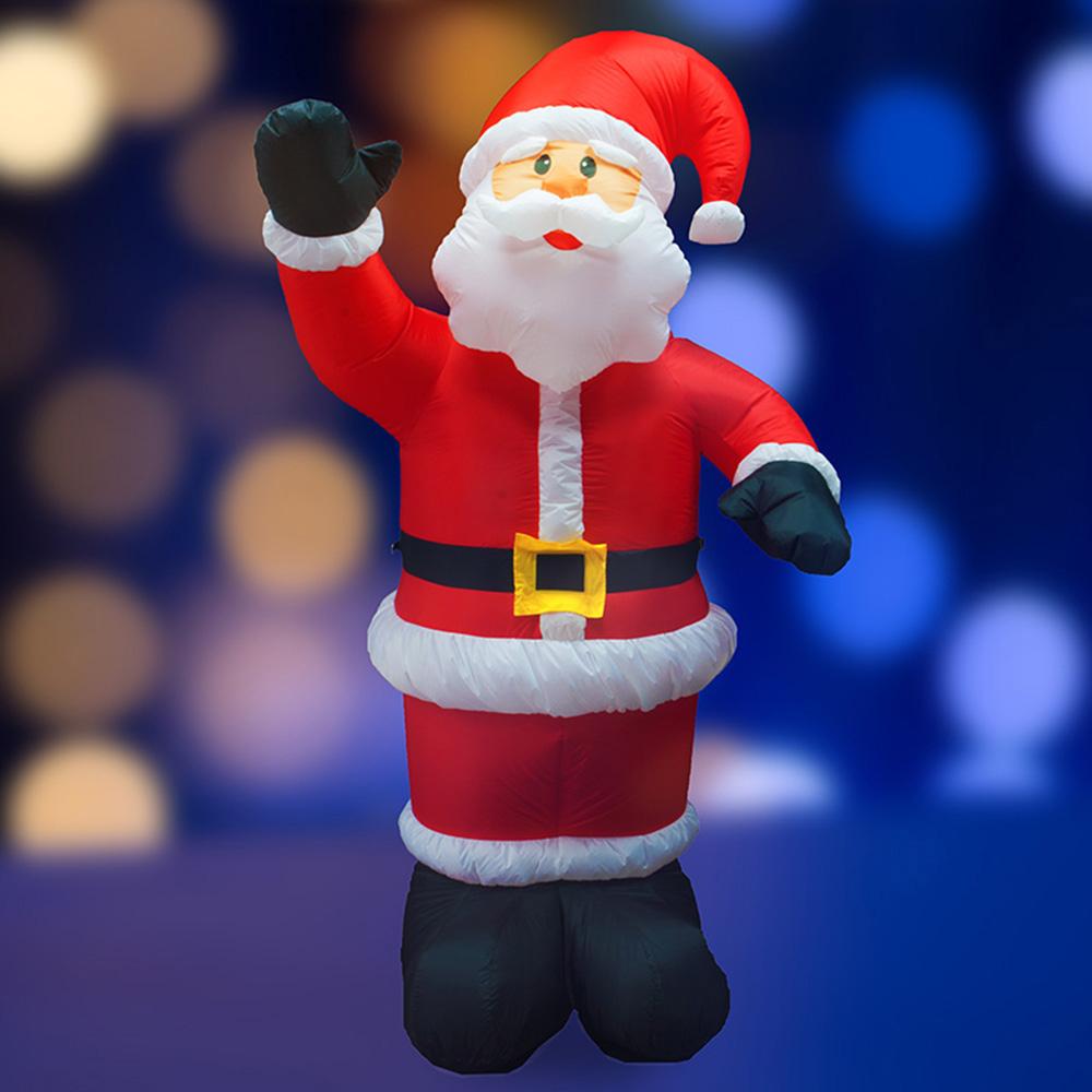Украшение надувное Дед Мороз приветствует 240