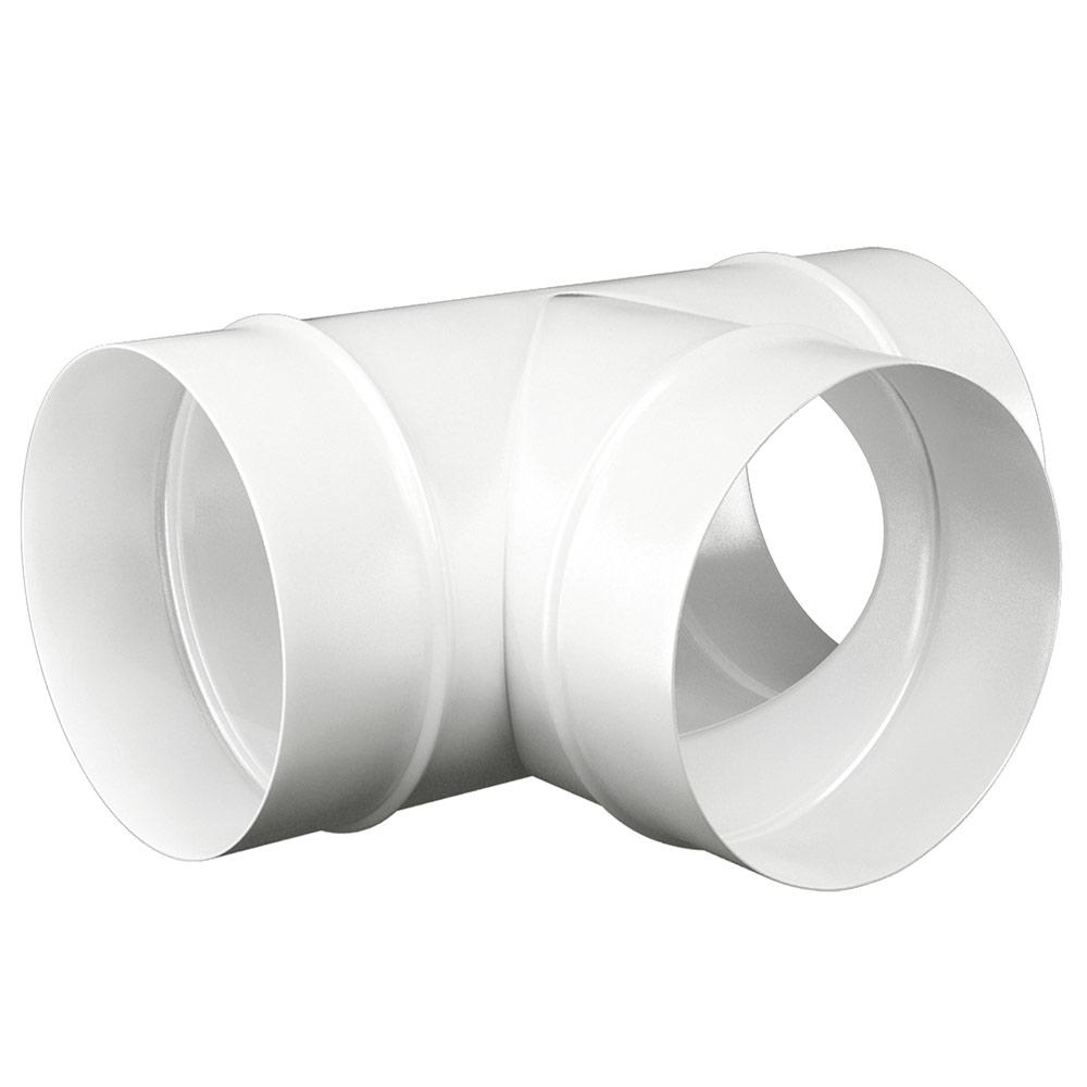 Тройник для круглых воздуховодов d150 мм стальной ERA белый