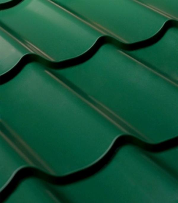 Купить Металлочерепица 1, 18х1, 15 м толщина 0, 4 мм зеленая RAL 6005 СуперМонтеррей, Зеленый