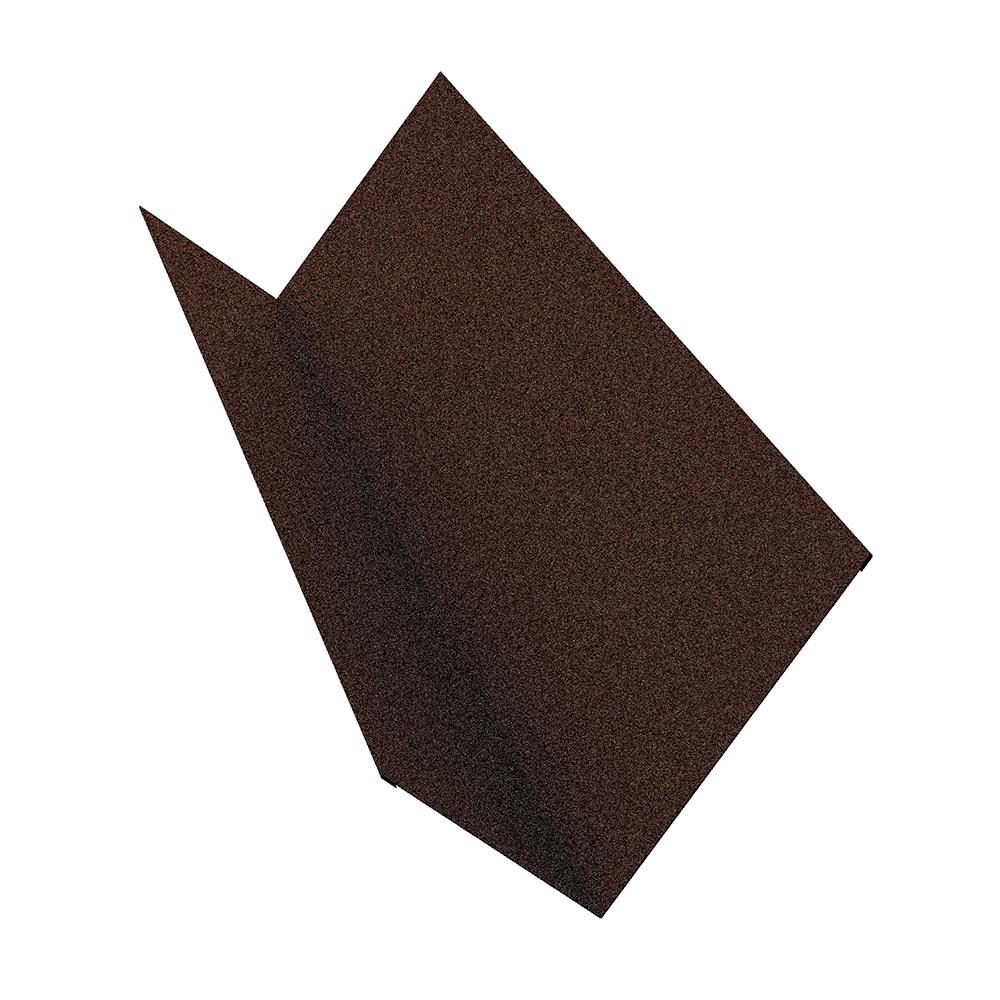 Планка примыкания для металлочерепицы 130х160 мм 2 м Стальной бархат коричневая RAL 8017 планка карнизная для металлочерепицы 50х100 мм 2 м коричневая ral 8017