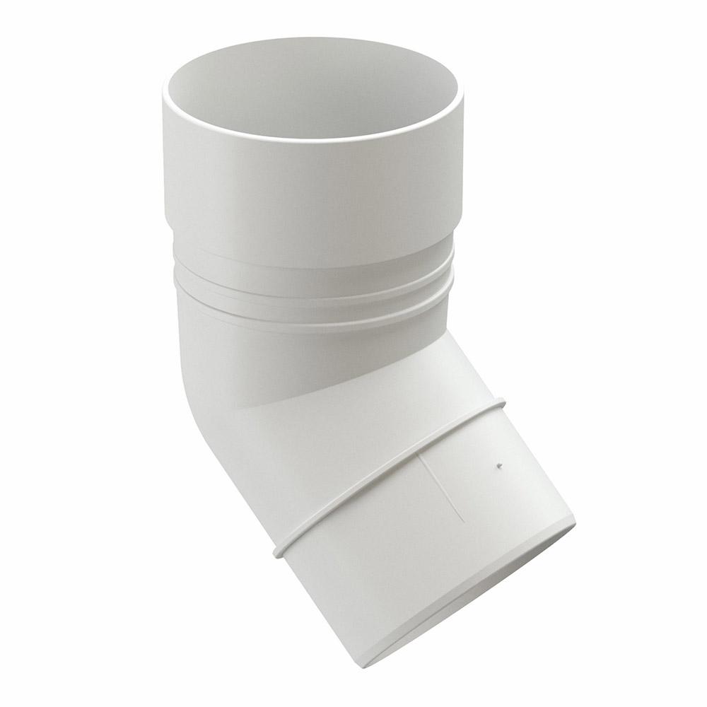 цена на Колено трубы пластиковое Docke Standart d80 мм 45° пломбир RAL 9003