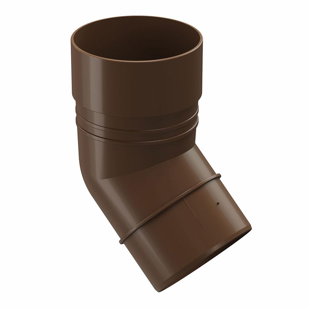 цена на Колено трубы пластиковое Docke Standart d80 мм 45° коричневый RAL 8017