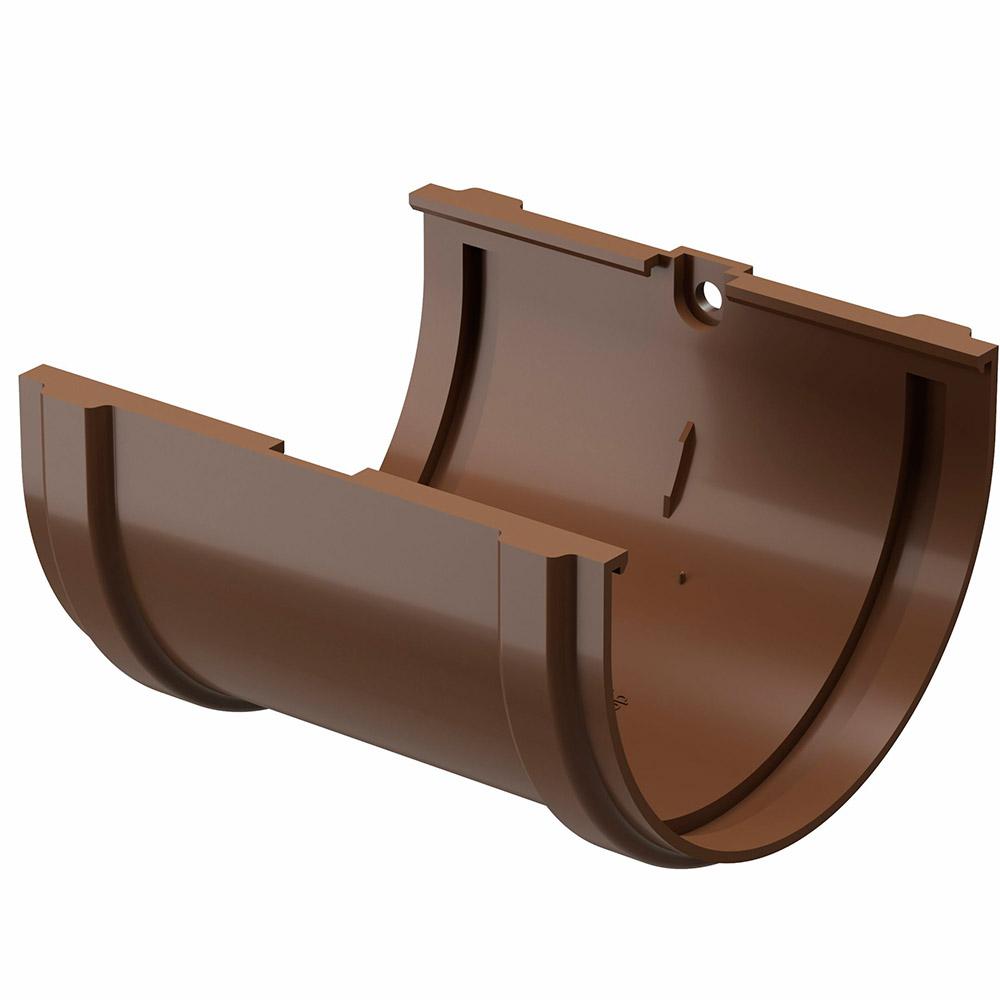 цена на Соединение желоба пластиковое Docke Standart d120 мм коричневый RAL 8017