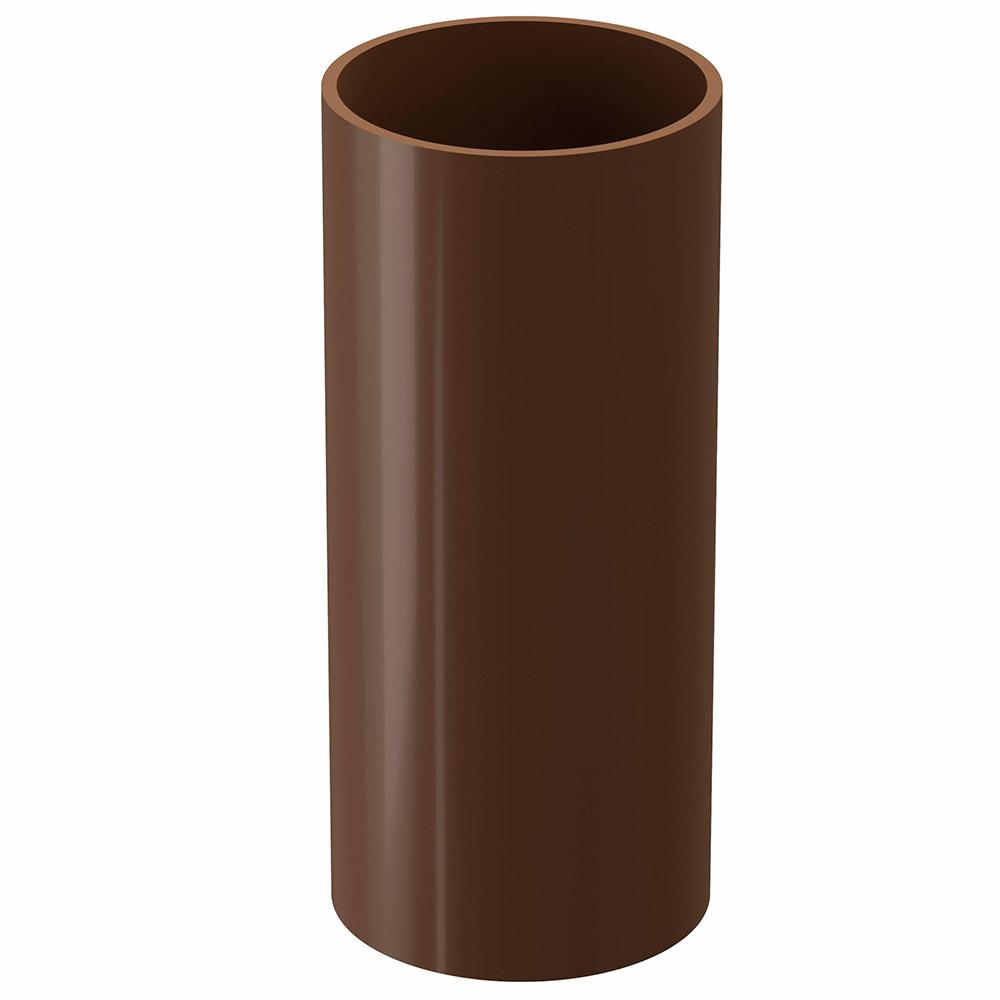 Труба водосточная пластиковая Docke Standart d80 мм 1 м коричневый RAL 8017 папка регистратор 80 мм эконом без покрытия
