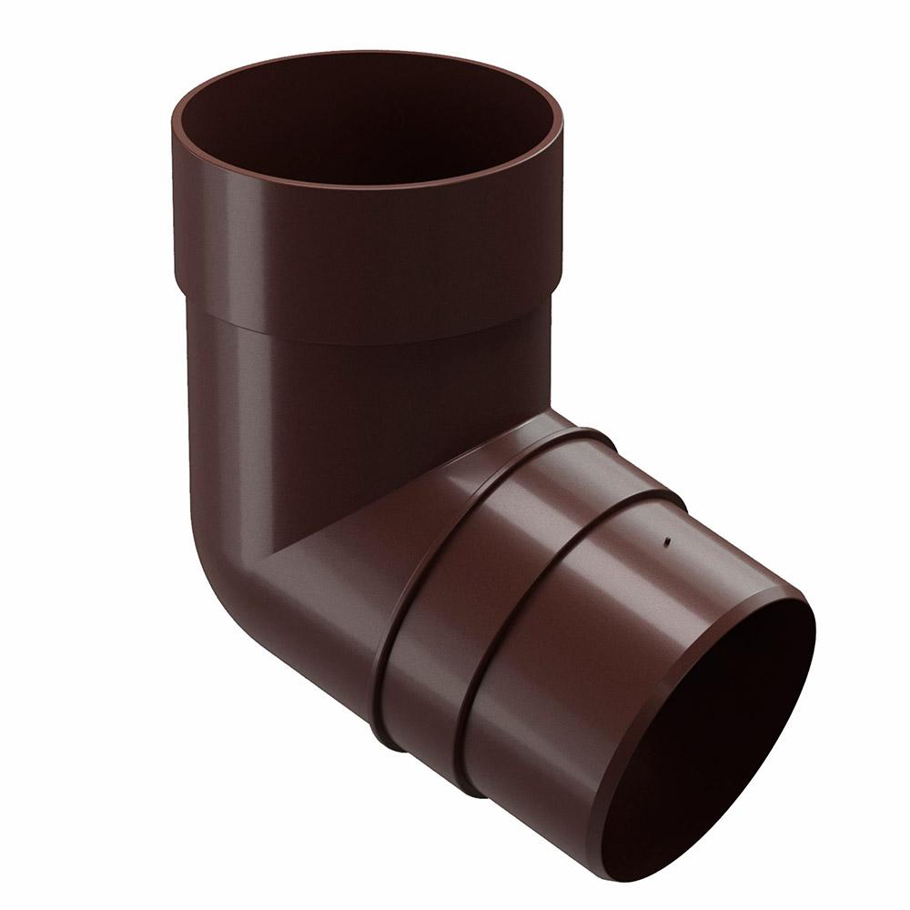 Колено трубы пластиковое Docke Premium d85 мм 72° каштан RAL 8017