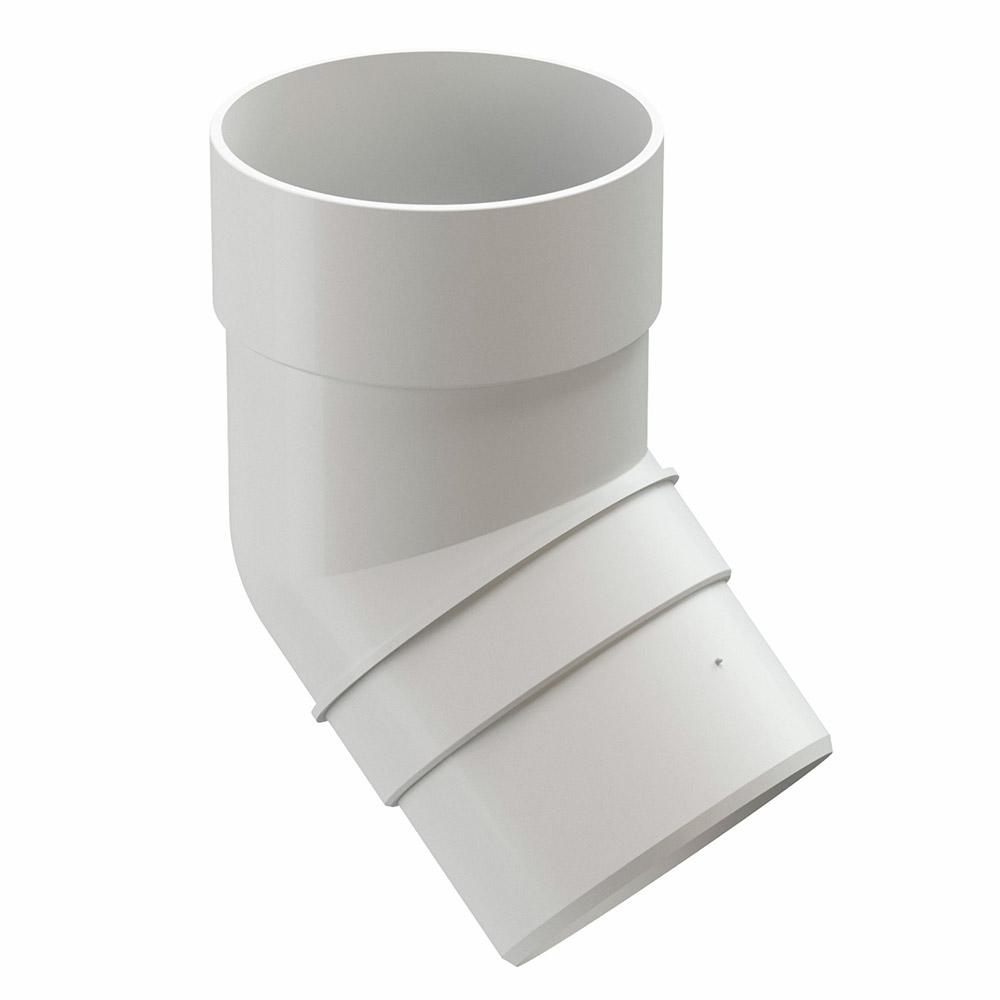 Колено трубы пластиковое Docke Premium d85 мм 45° белый RAL 9003 цена