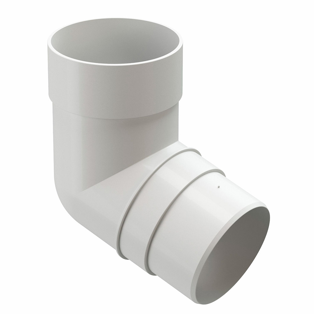 цена на Колено трубы пластиковое Docke Premium d85 мм 72° пломбир RAL 9003