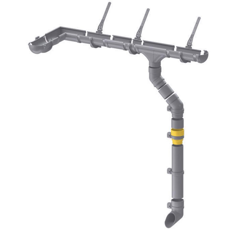 Муфта водосточной трубы пластиковая Docke Premium d85 мм пломбир RAL 9003