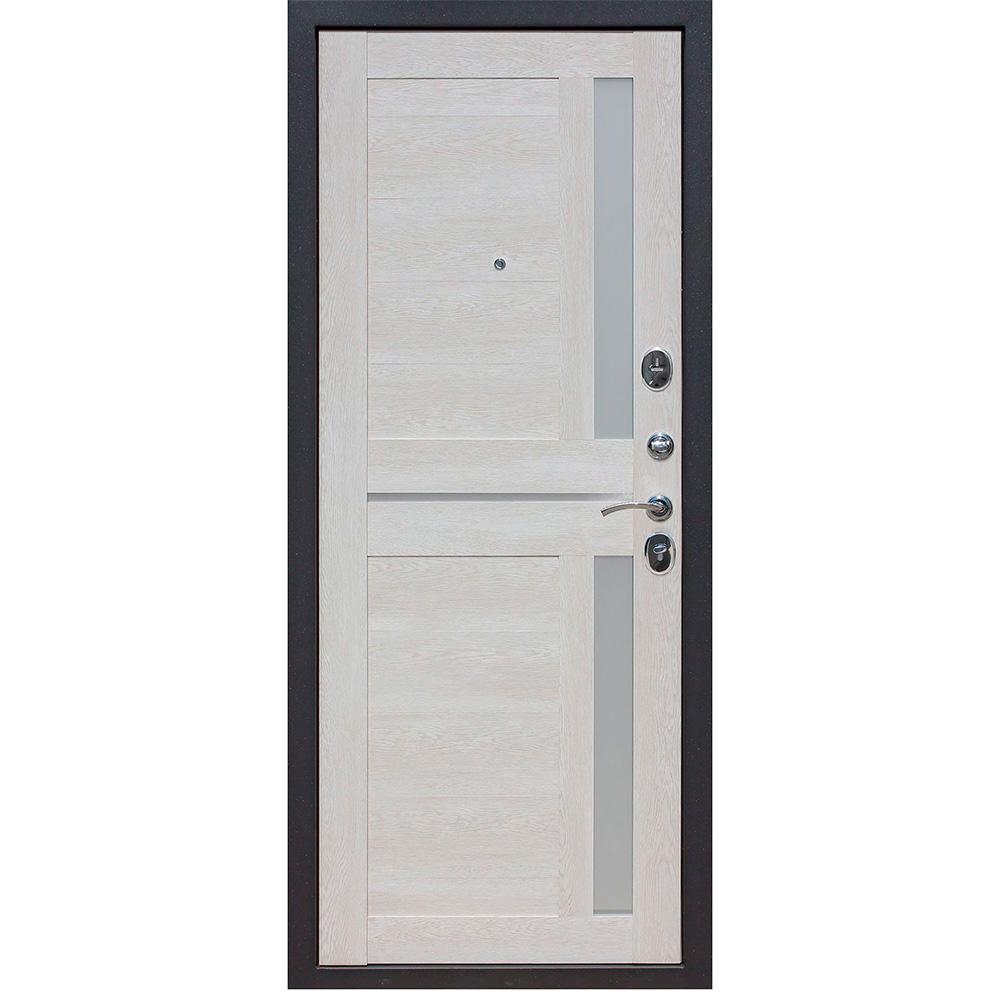 Дверь входная Нью-Йорк 7,5 правая черный муар - каштан перламутр 860х2050 мм фото