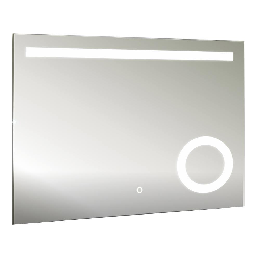 Зеркало AQUANIKA Cosmo 800х600 мм с подстветкой с сенсорным выключателем и увеличительным зеркалом