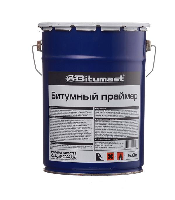 Праймер битумный Bitumast 4,2 кг/ 5 л мастика для гибкой черепицы фиксер технониколь 23 3 6 кг 3 л