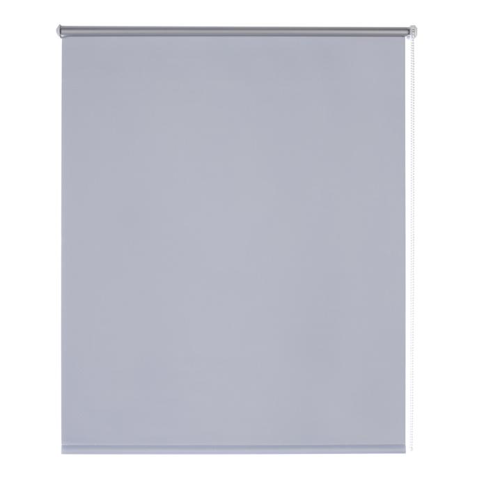 Штора рулонная 80х170 см серый отражающий Blackout