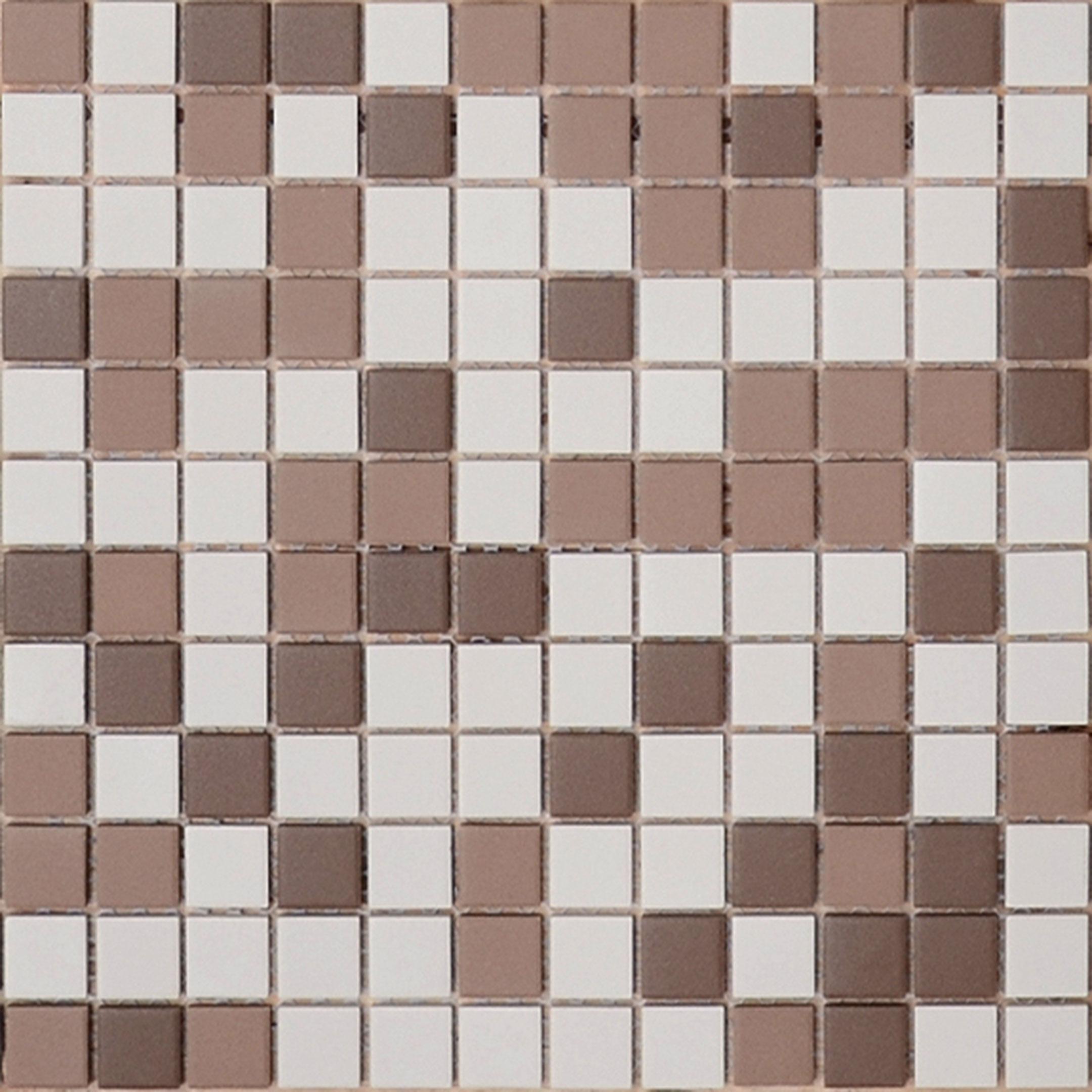 Мозаика Caramelle Marte микс коричневый из керамогранита 300х300х6 мм