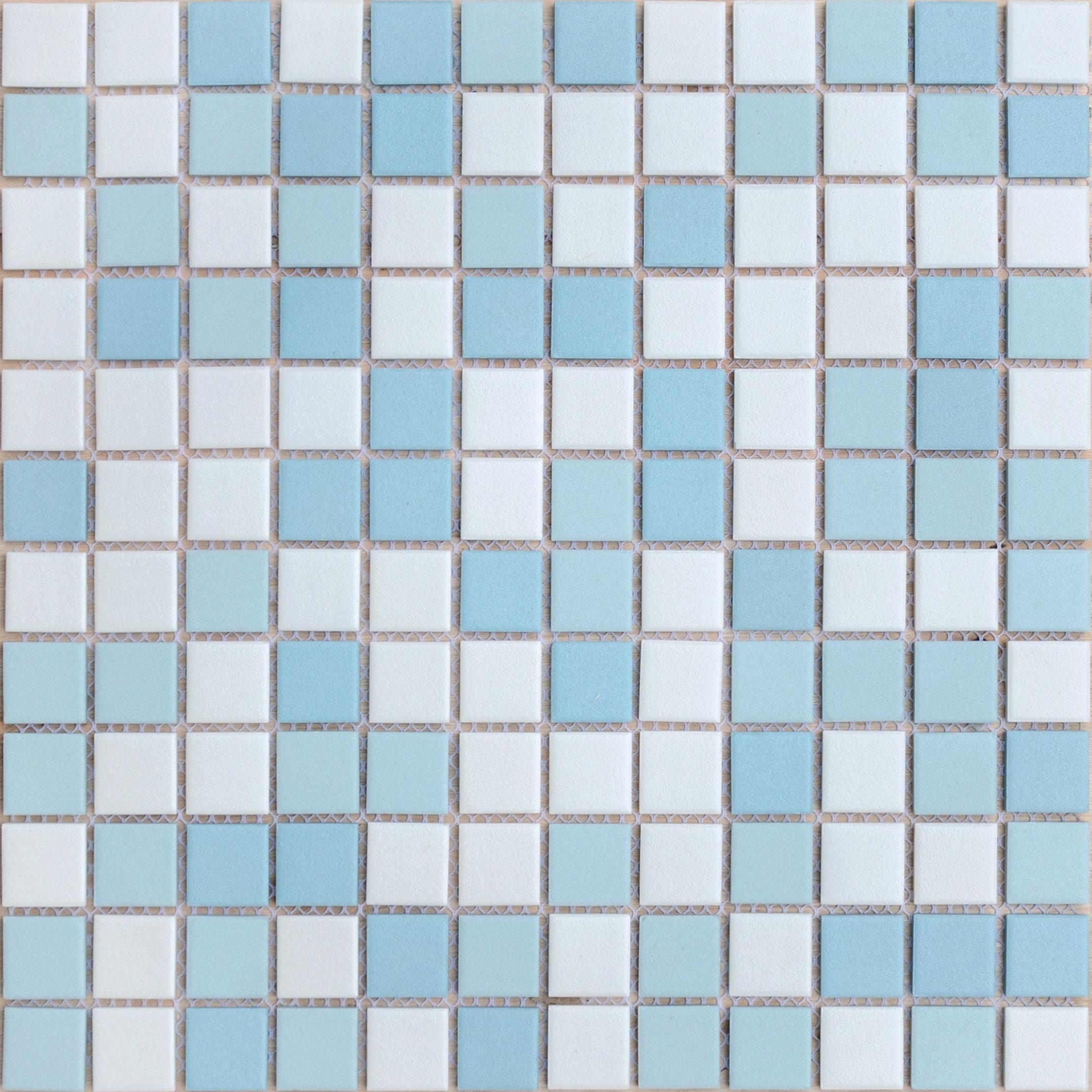 Мозаика Caramelle Uranio микс голубой из керамогранита 300х300х6 мм