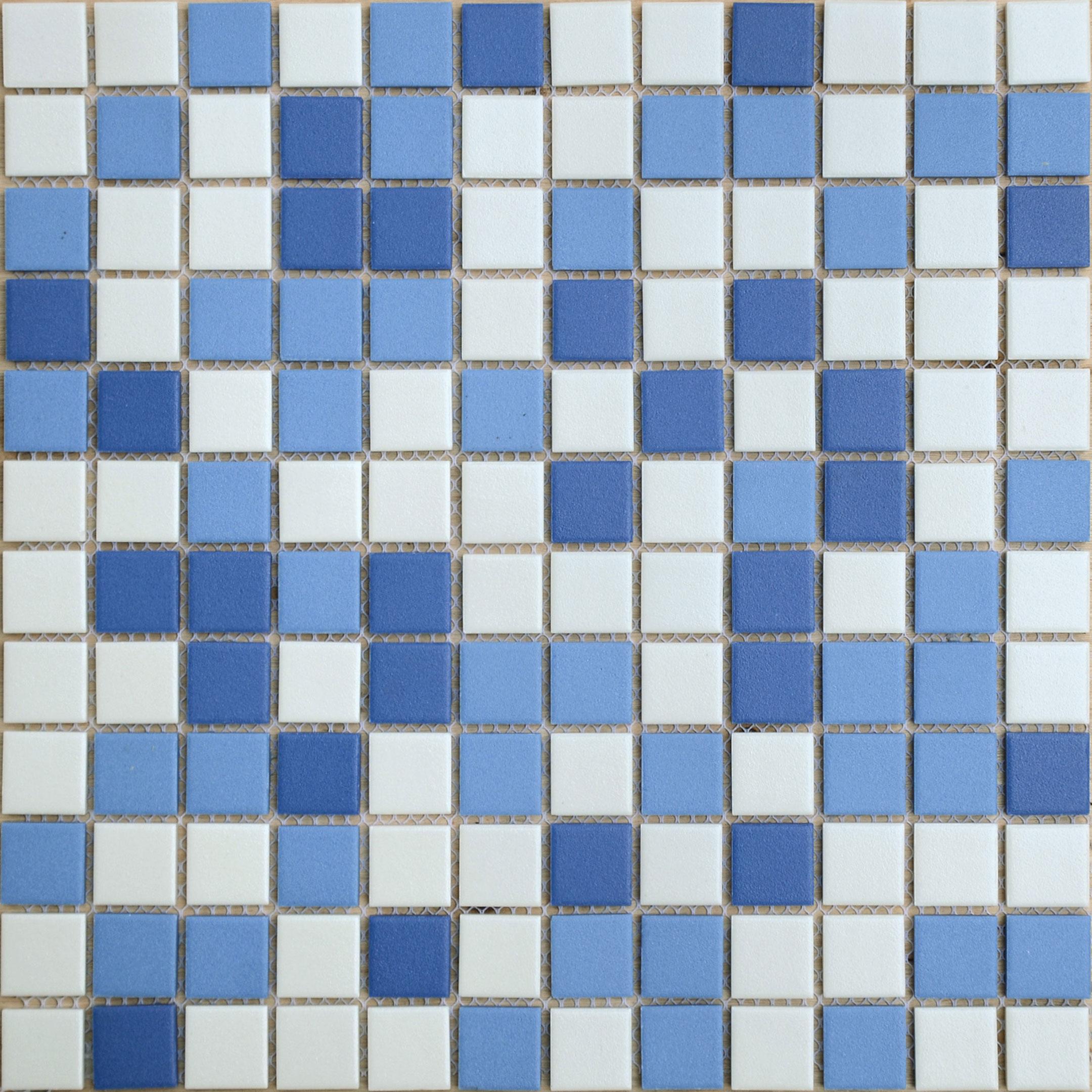 Мозаика Caramelle Nettuno микс синий из керамогранита 300х300х6 мм