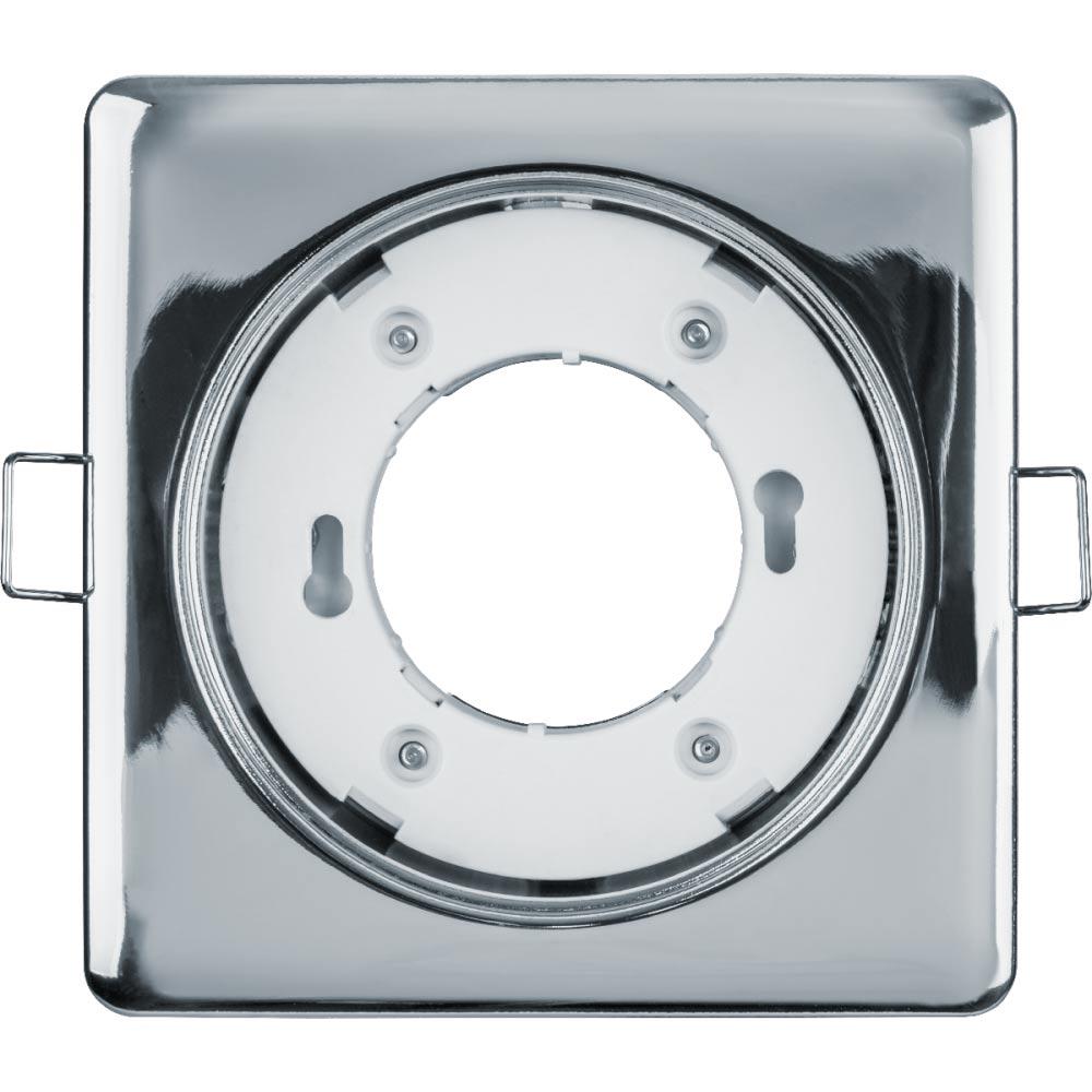 Светильник встраиваемый Navigator GX53 107х107 мм 15 Вт 220 В квадратный IP20 хром фото