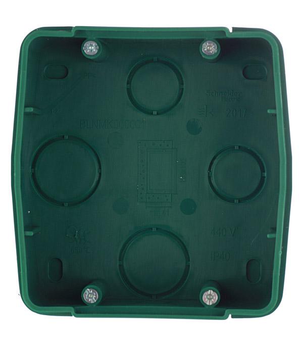 Коробка монтажная для силовых розеток с/у Schneider Electric Blanca зеленый