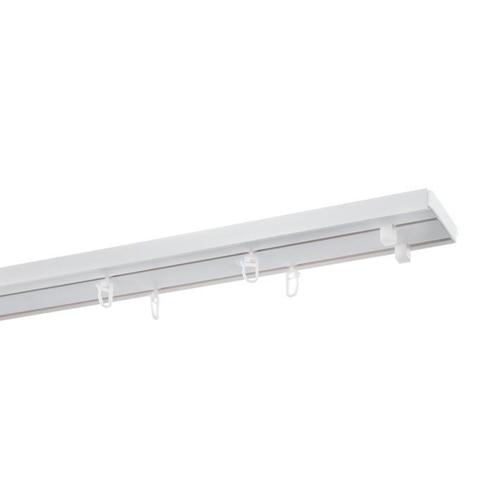 Карниз потолочный пластмассовый двухрядный Стандартный 200 см белый