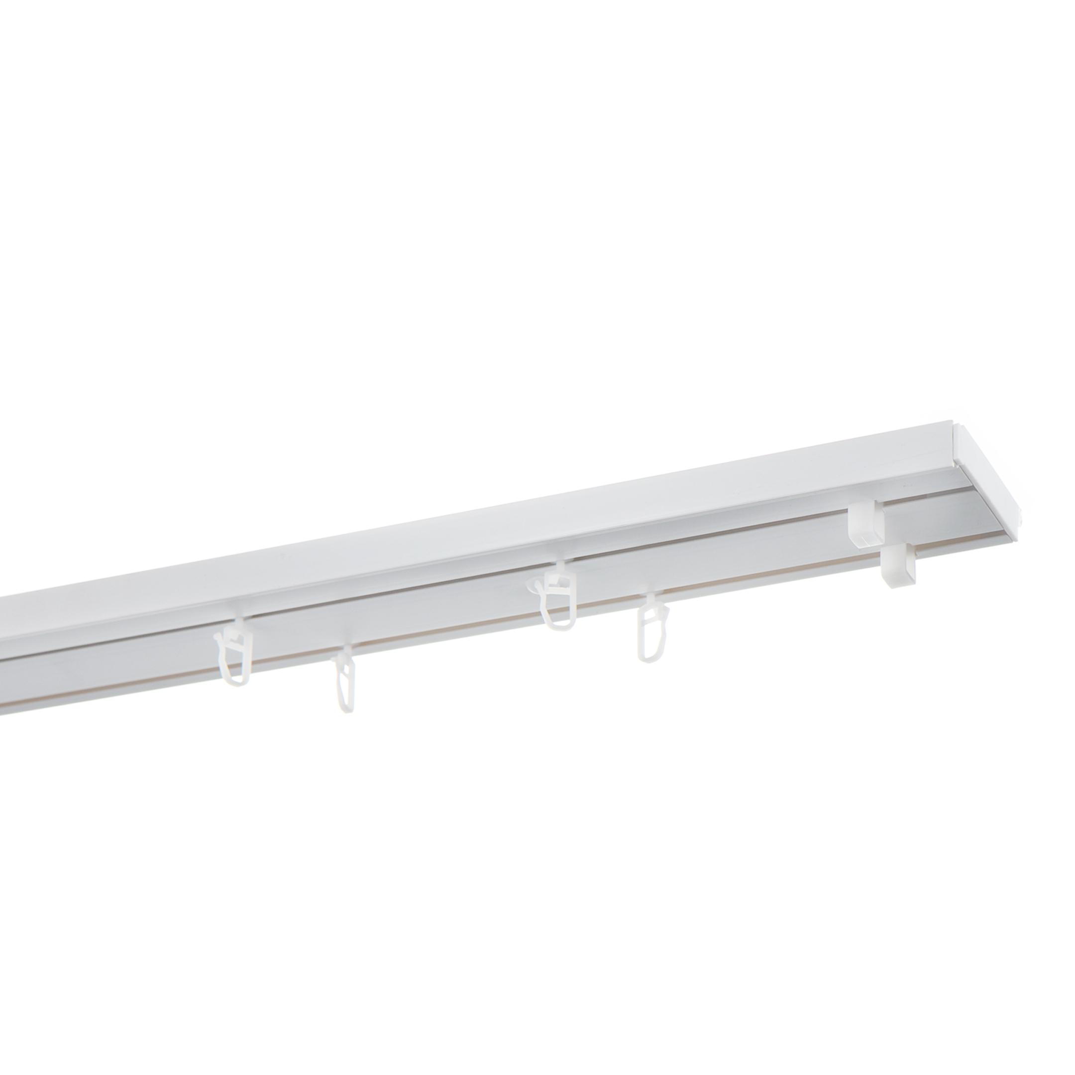 Карниз потолочный пластмассовый двухрядный Стандартный 250 см белый крючки kujira carp серия 250 bn карповый 3 10 шт карповый
