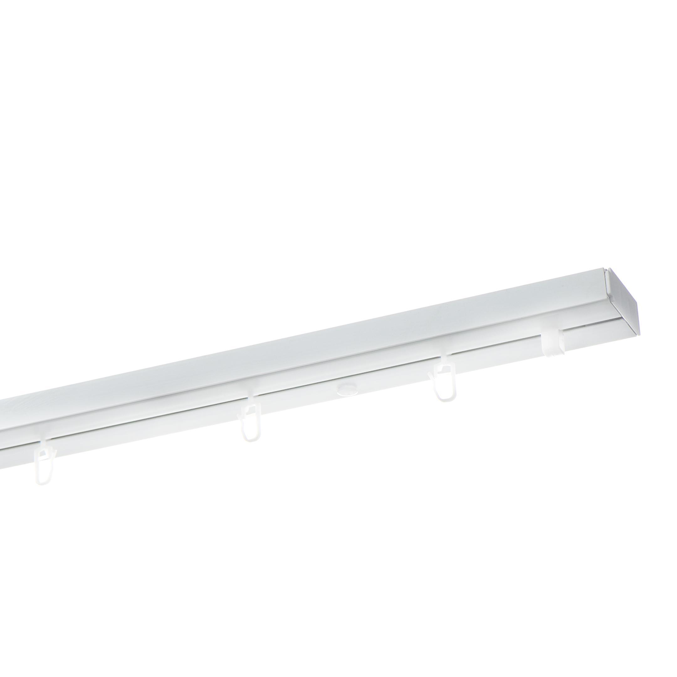 Карниз потолочный пластмассовый однорядный 200 см белый decolux карниз артик ветка однорядный потолочный никель матовый 201 см ø1 6 см 18 колец qxjsdda